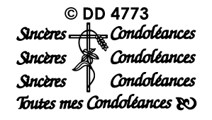 DD4773 Sinceres Condoleances