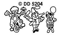 DD5204 Clowntjes/ Fiets