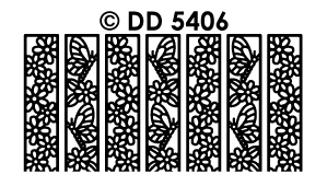 DD5406 Ribbon Lace Stickers vlinders bloemen
