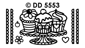 DD5553 cupcakes with borders