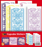 DD5553SET Sticker set Cupcakes