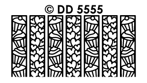 DD5555 Ribbon Lace Stickers Cupcakes