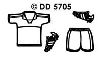 DD5705 Voetbal Shirt en Broek