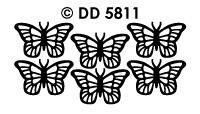 DD5811 Vlinders Veel