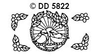 DD5822 Vogeltjes met bloem