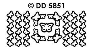 DD5851 Rand en hoek met vlinders