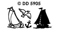 DD5905 Oude Zeilboten Zeilboot (1)
