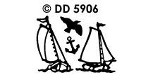 DD5906 Oude Zeilboten Zeilboot (2)