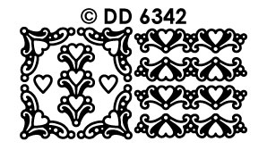 DD6342 Corner Border Heart ornament
