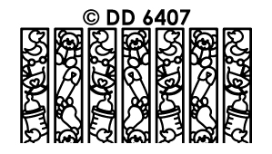DD6407 Ribbon Lace Stickers new baby