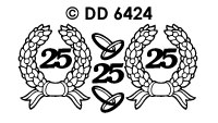 DD6424 Krans & Ringen 25 Zilver
