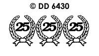 DD6430 Kransjes 25 Zilver