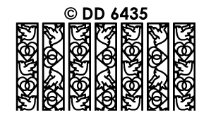 DD6435 Ribbon Lace Stickers huwelijks duiven