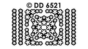 DD6521 Rand en hoek met lossen bloemen