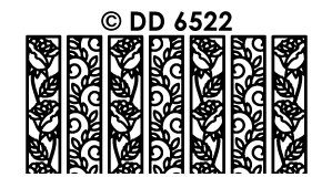 DD6522 Ribbon Lace Stickers Roses