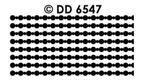 DD6547 Fijn randje parelketting