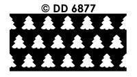 DD6877 Achtergrondsticker Kerstboom