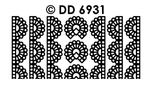 DD6931 Ribbon Lace Sticker Kant
