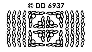 DD6937 Randje & Hoekjes Sierlijke bladeren