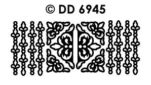 DD6945 Randje & Hoekjes met traanbloemen