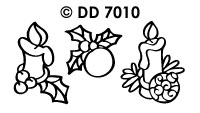 DD7010 Kerstkaarsen