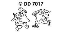 DD7017 Moderne Kerstman