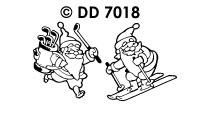 DD7018 Vakantie Kerstman