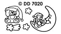 DD7020 Kerstberen bij Nacht