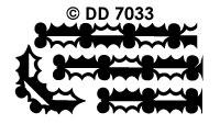 DD7033 Kerstkader Hulstbladeren