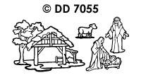 DD7055 Kerststal & Figuren