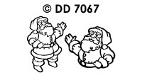 DD7067 Kerstman HoHoHo