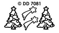 DD7081 Kerstboom & Vallende ster