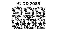 DD7088 Sterren Ornamenten hoekje (Klein)