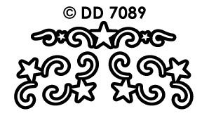 DD7089 Sterren Ornamenten hoekje (Groot)