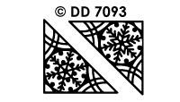 DD7093 Kerst Hoeken Sneeuwvlokken