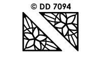 DD7094 Kerst Hoeken Sterren
