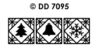 DD7095 Kerst blokje divers