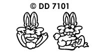 DD7101 Easter Hare & Chick