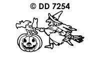 DD7254 Halloween Heks/ Pomp./ Vleermuizen
