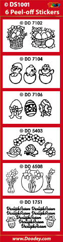 DS1001 Sticker set pasen
