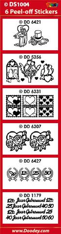 DS1004 Sticker set trouwen