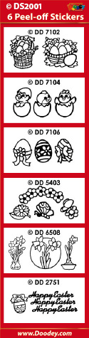 DS2001 Sticker set Easter