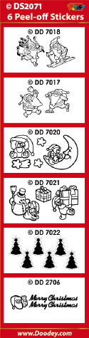 DS2071 Sticker set Kerst