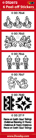DS2072 Sticker set Kerst