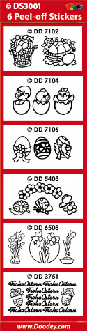 DS3001 Sticker set Ostern