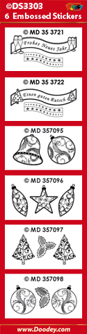 DS3303 Sticker set Kerst Duitse tekst