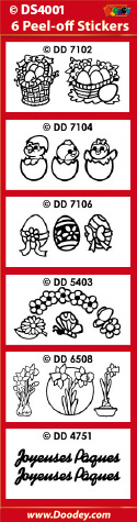 DS4001 Sticker set P�ques