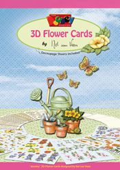 3D Flower cards by Nel van Veen A4