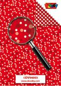 DV94003 Achtergrondvel happy dots rood