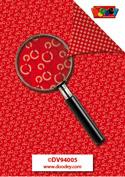 DV94005 Achtergrondvel cirkels rood